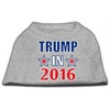 Mirage Pet Products Trump in 2016 Election Screenprint Shirts Grey XL (16)