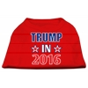 Mirage Pet Products Trump in 2016 Election Screenprint Shirts Red XS (8)