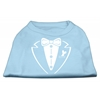 Mirage Pet Products Tuxedo Screen Print Shirt Baby Blue Med (12)