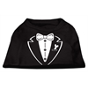 Mirage Pet Products Tuxedo Screen Print Shirt Black Sm (10)