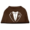 Mirage Pet Products Tuxedo Screen Print Shirt Brown Lg (14)