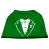 Mirage Pet Products Tuxedo Screen Print Shirt Emerald Green Sm (10)