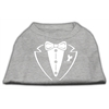 Mirage Pet Products Tuxedo Screen Print Shirt Grey Sm (10)