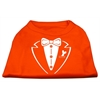 Mirage Pet Products Tuxedo Screen Print Shirt Orange Med (12)