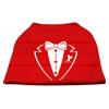 Mirage Pet Products Tuxedo Screen Print Shirt Red XS (8)