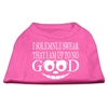 Mirage Pet Products Up to No Good Screen Print Shirt Bright Pink Lg (14)