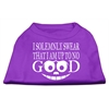 Mirage Pet Products Up to No Good Screen Print Shirt Purple Lg (14)