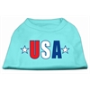 Mirage Pet Products USA Star Screen Print Shirt Aqua Med (12)