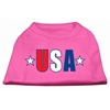 Mirage Pet Products USA Star Screen Print Shirt Bright Pink Med (12)
