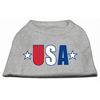 Mirage Pet Products USA Star Screen Print Shirt Grey Lg (14)