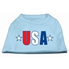 Mirage Pet Products USA Star Screen Print Shirt Baby Blue Lg (14)
