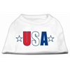 Mirage Pet Products USA Star Screen Print Shirt White Sm (10)