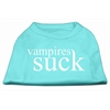 Mirage Pet Products Vampires Suck Screen Print Shirt Aqua XS (8)