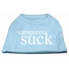 Mirage Pet Products Vampires Suck Screen Print Shirt Baby Blue XXXL(20)