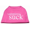 Mirage Pet Products Vampires Suck Screen Print Shirt Bright Pink XXXL(20)