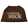 Mirage Pet Products Vampires Suck Screen Print Shirt Brown Med (12)