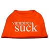 Mirage Pet Products Vampires Suck Screen Print Shirt Orange Lg (14)