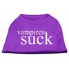 Mirage Pet Products Vampires Suck Screen Print Shirt Purple XS (8)