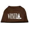 Mirage Pet Products Wicked Screen Print Shirt Brown Lg (14)