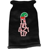 Mirage Pet Products Lazy Elf Screen Print Knit Pet Sweater Black XXL (18)