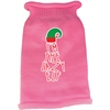 Mirage Pet Products Lazy Elf Screen Print Knit Pet Sweater Light Pink XXL (18)