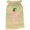 Mirage Pet Products Lazy Elf Screen Print Knit Pet Sweater Cream Lg (14)