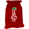 Mirage Pet Products Lazy Elf Screen Print Knit Pet Sweater Red Med (12)