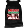 Mirage Pet Products Ya Filthy Animal Screen Print Knit Pet Sweater Black XXL (18)