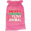 Mirage Pet Products Ya Filthy Animal Screen Print Knit Pet Sweater Light Pink Med (12)
