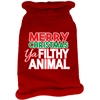 Mirage Pet Products Ya Filthy Animal Screen Print Knit Pet Sweater Red Med (12)