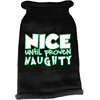 Mirage Pet Products Nice until proven Naughty Screen Print Knit Pet Sweater Black Med (12)