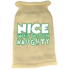 Mirage Pet Products Nice until proven Naughty Screen Print Knit Pet Sweater Cream Sm (10)