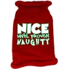Mirage Pet Products Nice until proven Naughty Screen Print Knit Pet Sweater Red Med (12)
