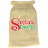 Mirage Pet Products Santas Favorite Screen Print Knit Pet Sweater Cream Med (12)
