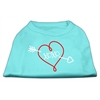 Mirage Pet Products XOXO Screen Print Shirt Aqua Lg (14)