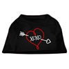 Mirage Pet Products XOXO Screen Print Shirt Black XS (8)