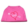 Mirage Pet Products XOXO Screen Print Shirt Bright Pink XS (8)
