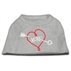 Mirage Pet Products XOXO Screen Print Shirt Grey XS (8)