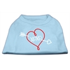 Mirage Pet Products XOXO Screen Print Shirt Baby Blue Sm (10)