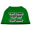 Mirage Pet Products You Come, You Sit, You Stay Screen Print Shirts Emerald Green Lg (14)
