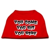 Mirage Pet Products You Come, You Sit, You Stay Screen Print Shirts Red L (14)
