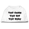 Mirage Pet Products You Come, You Sit, You Stay Screen Print Shirts White XXXL(20)