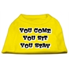 Mirage Pet Products You Come, You Sit, You Stay Screen Print Shirts Yellow XS (8)