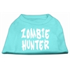 Mirage Pet Products Zombie Hunter Screen Print Shirt Aqua XXXL(20)