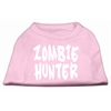 Mirage Pet Products Zombie Hunter Screen Print Shirt Light Pink XS (8)