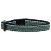 Mirage Pet Products Preppy Stripes Nylon Ribbon Collars Light Blue/Khaki Cat Safety