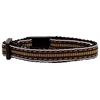 Mirage Pet Products Preppy Stripes Nylon Ribbon Collars Brown/Khaki Cat Safety