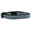 Mirage Pet Products Preppy Stripes Nylon Ribbon Collars Light Blue/White Cat Safety