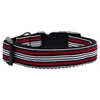 Mirage Pet Products Preppy Stripes Nylon Ribbon Collars Red/White Medium
