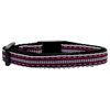 Mirage Pet Products Preppy Stripes Nylon Ribbon Collars Red/White Cat Safety